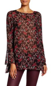 Max Studio New With Tags Floral Top Red/Brown