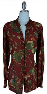 Coldwater Creek Button Down Shirt Multicolored