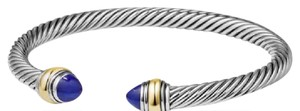 David Yurman cable classics bracelet with lapis lazuli and 14k gold