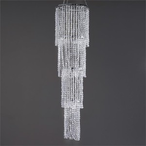 4 Tier Crystal Pendant Diamond Chandelier - 36