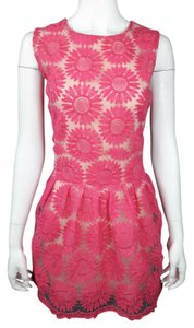 Moon Collection short dress Pink on Tradesy