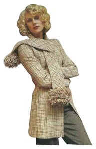 Elevenses Pom Pom Tweed Pink Coat
