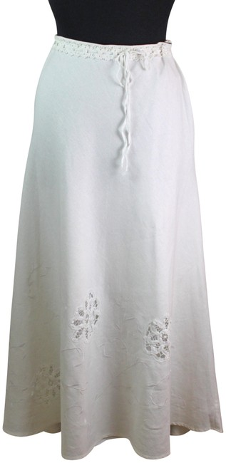 Item - White W- Lining Embroidered Skirt Size 10 (M, 31)