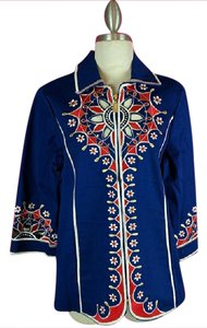 Bob Mackie Cut-out Multicolored Jacket