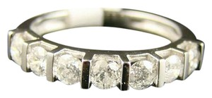 Other 14K Ladies 7 Stone Round Cut Diamond Band Ring 1.0 Ct