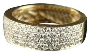 Other Unisex 14K Yellow Gold SI Diamond Wedding Band Ring 1.15 Ctw