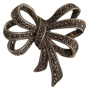 Judith Jack NEW! 925 Sterling & Marcasite Brooch/Pin Triple Bow Vintage Design