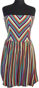 FELICITY & COCO short dress Multi Color Summer Work Striped Chevron on Tradesy