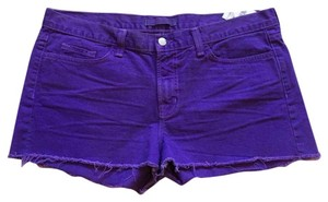 J Brand Cut Off Shorts Purple