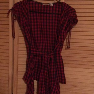 Anthropologie Top black and red