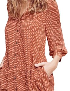 Anthropologie Top orange print