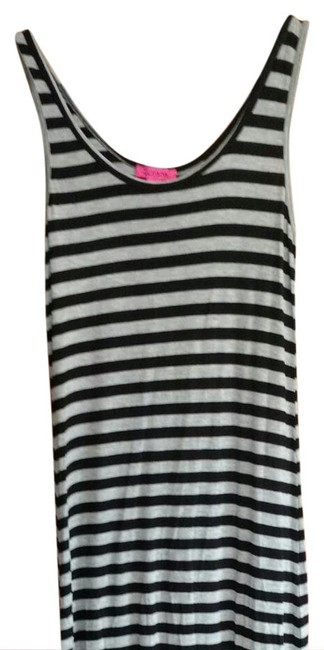 Item - Black and Gray Striped Long Casual Maxi Dress Size 12 (L)