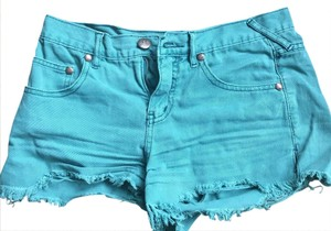 Free People Cut Off Shorts teal