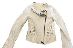 L.A.M.B. white Leather Jacket