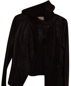 Hinge black Leather Jacket