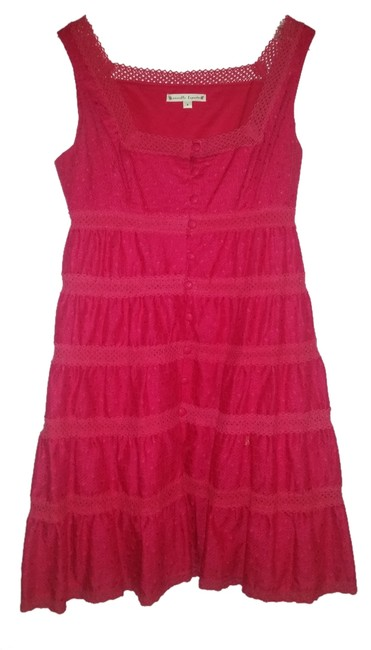 Nanette Lepore short dress pink eyelet on Tradesy