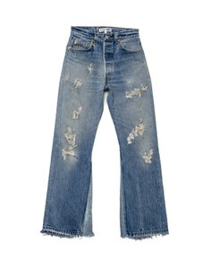 RE/DONE High Rise Vintage Levi's Flare Leg Jeans-Distressed