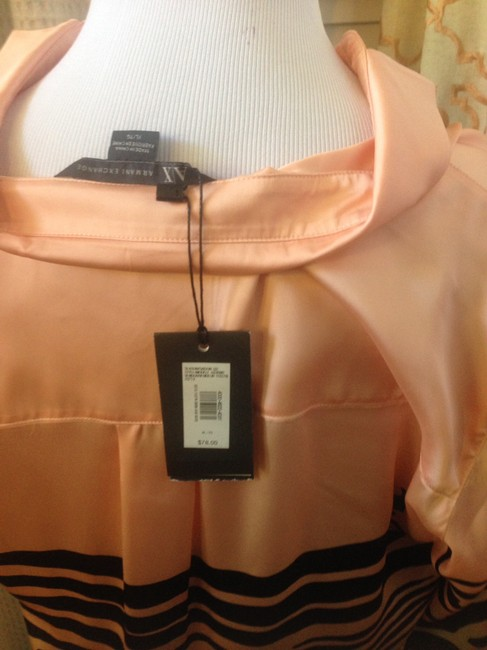 A X Armani Exchange Top Pink and black