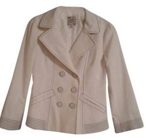 Nanette Lepore White with blue detailing Blazer