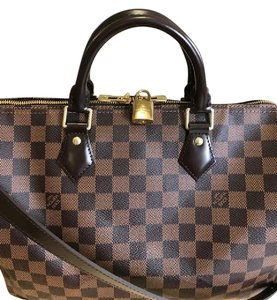 Louis Vuitton Speedy Bandouliere Damier Cross Body Bag