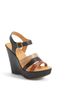 Kork-Ease Kork Boho Neutral Colorblock Wedge Sandals