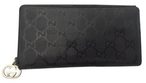 Gucci Gucci Signature GG Monogram Leather Zippy Wallet with Hardware