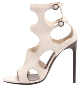 Tom Ford white chalk Sandals