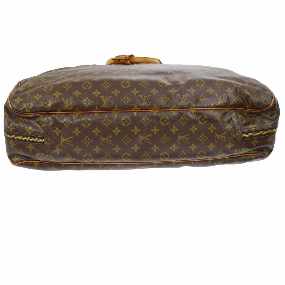 f5c3ba664652 Louis Vuitton Alize 24 Heures Brown Monogram Canvas Leather Weekend Travel  Bag - Tradesy