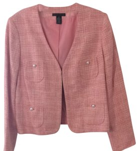 Apostrophe Pink And White Blazer
