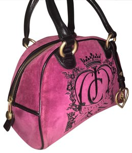 Juicy Couture Satchel in black & purple/pink