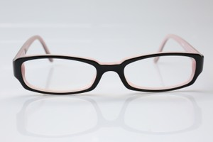 Chanel Black and Lavender Thin Square Eye Optical Glasses