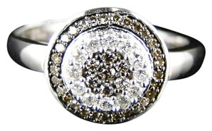 Other Ladies Womens White Gold Brown Round Cut Diamond Ring 1/3 Ct