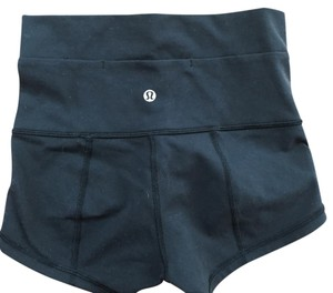 Lululemon Black with silver logo Shorts