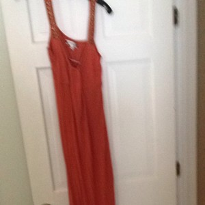 Burnt Orange With Metal Embellishments Maxi Dress by Sweetees