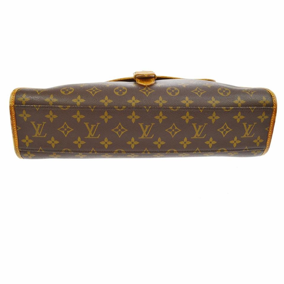 Louis vuitton brown monogram canvas beverly laptop bag for Louis vuitton miroir bags