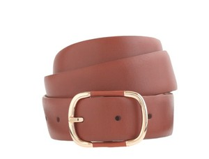 J.Crew Wide leather-and-gold-buckle belt item 12012 Size XS