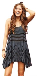 Free People short dress Storm (blue and grey) Fp Voile Lace Trapeze on Tradesy