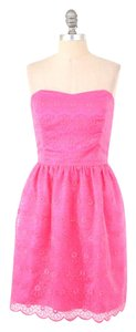 Lilly Pulitzer Embroidered Daisy Organza Mini Dress