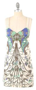 Free People short dress Natural Studded Butterfly Linen Mini on Tradesy