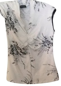 Kay Celine T Shirt White With Black Flowers