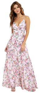 Taupe and Pink Floral Maxi Dress by Lulu*s Summer Maxi