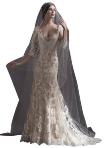Sottero and Midgley Ivory Lace Annora Wedding Dress Size 12 (L)
