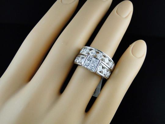 Other 14K White Gold Princess Cut Band Diamond Engagement Ring Set 3 Ct Image 2