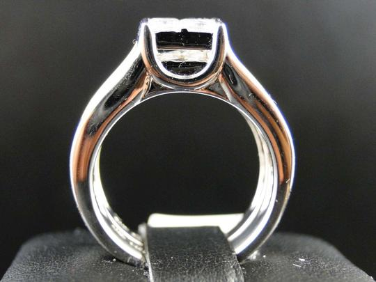 Other 14K White Gold Princess Cut Band Diamond Engagement Ring Set 3 Ct Image 3