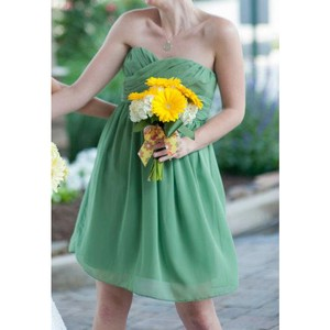 Bill Levkoff Clover Green Short Bridesmaid Dress