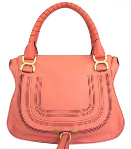 Chloé Satchel in Coral Pop
