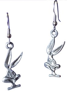 Warner Bros. Studio Store Pewter Bugs Bunny Dangle Earrings