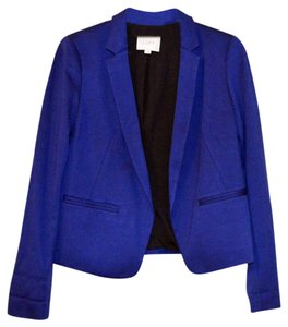 Ann Taylor LOFT Office Work Spring Summer Fall Royal Blue Blazer