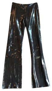 Kos Tum Flare Pants Shiny Black