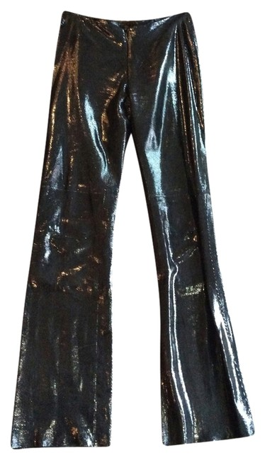 Preload https://item1.tradesy.com/images/shiny-black-flared-pants-size-2-xs-26-2084875-0-0.jpg?width=400&height=650
